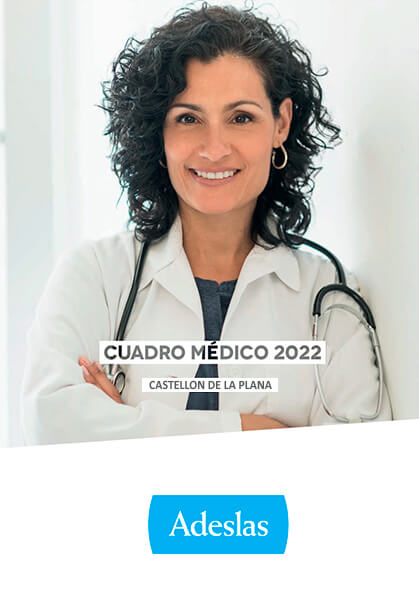 Cuadro médico Adeslas Castellón de la Plana 2021