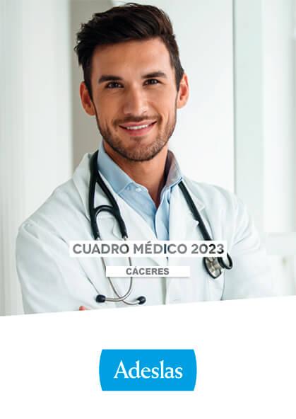 Cuadro médico Adeslas Cáceres 2019