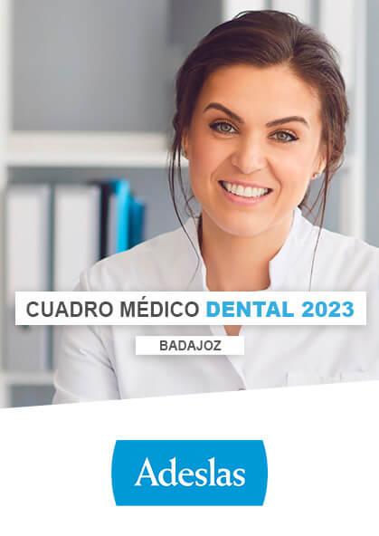 Cuadro médico Adeslas Dental Badajoz 2020 / 2021