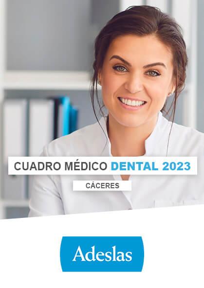 Cuadro médico Adeslas Dental Cáceres 2021