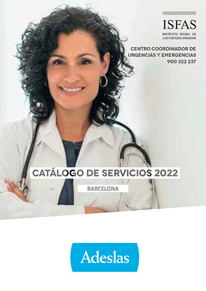 Cuadro médico Adeslas ISFAS Barcelona 2021