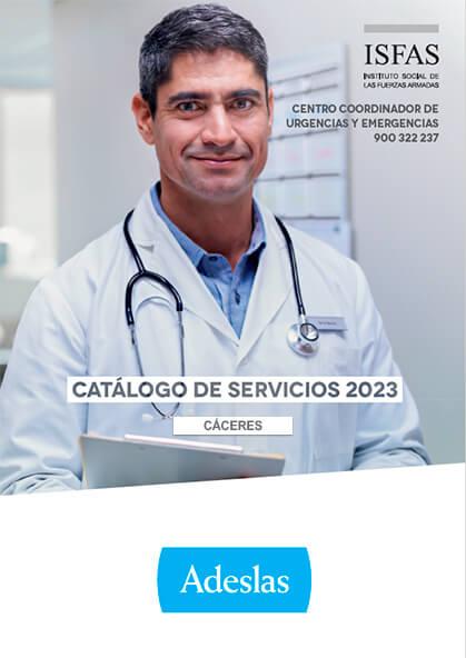 Cuadro médico Adeslas ISFAS Cáceres 2019