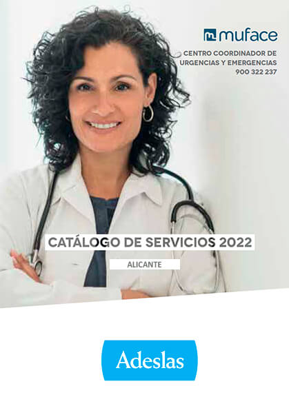 Cuadro médico Adeslas MUFACE Alicante 2020