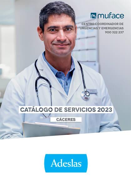 Cuadro médico Adeslas MUFACE Cáceres 2020