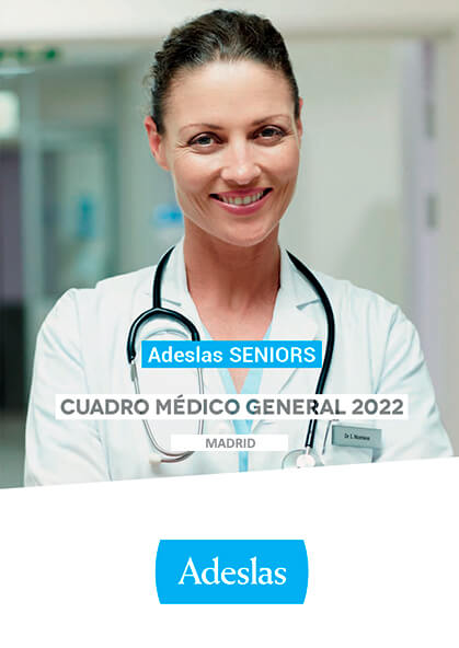 Cuadro médico Adeslas Seniors Madrid 2020