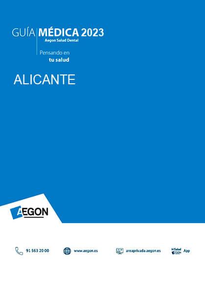 Cuadro médico Aegon Dental Alicante 2019