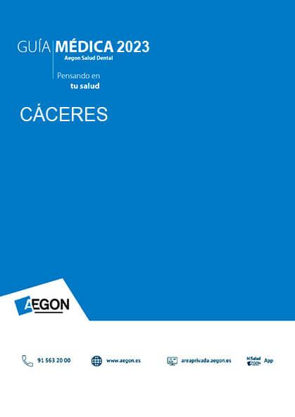 Cuadro médico Aegon Dental Cáceres 2019