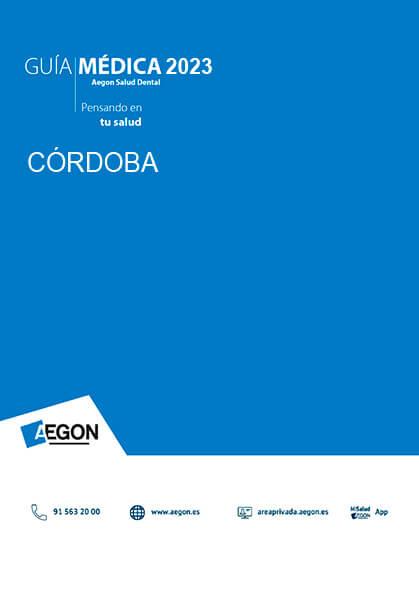 Cuadro médico Aegon Dental Córdoba 2020