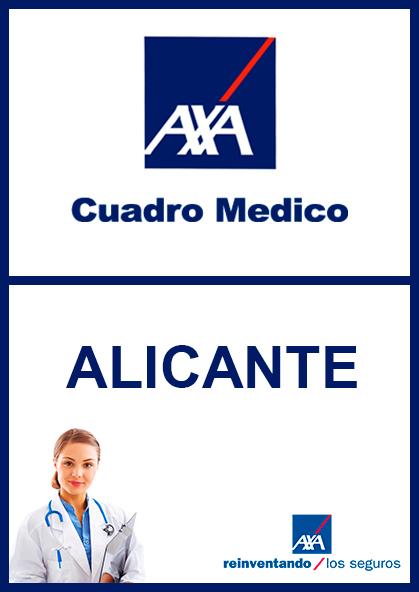 Cuadro médico AXA Alicante 2021
