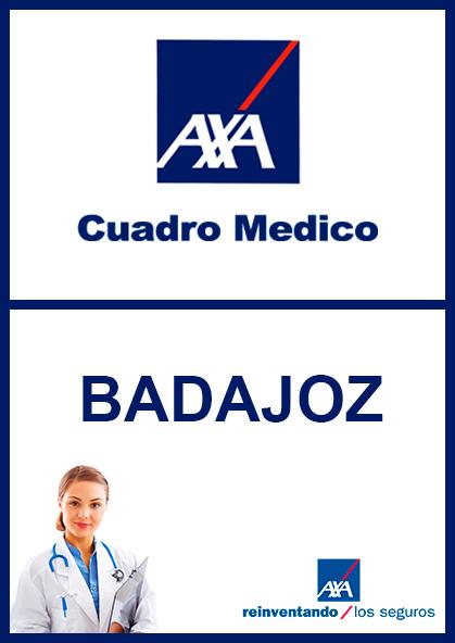 Cuadro médico AXA Badajoz 2021