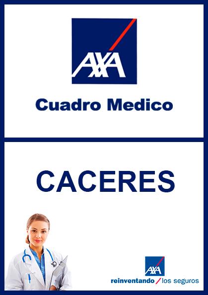 Cuadro médico AXA Cáceres 2021
