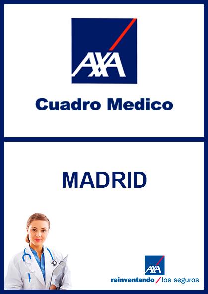 Cuadro médico AXA Madrid 2021