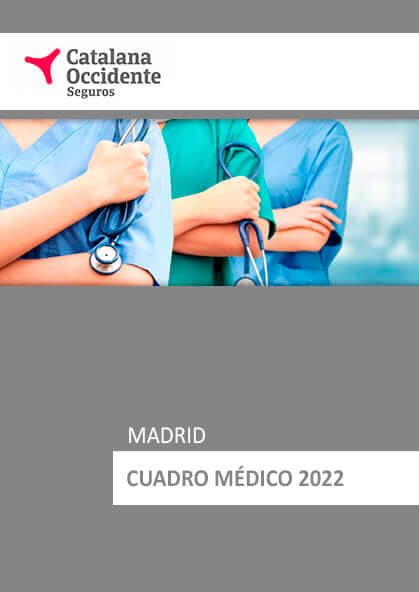 Cuadro médico Catalana Occidente Madrid 2020