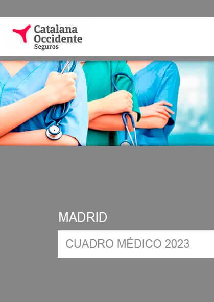 Cuadro médico Catalana Occidente Madrid 2019 / 2020
