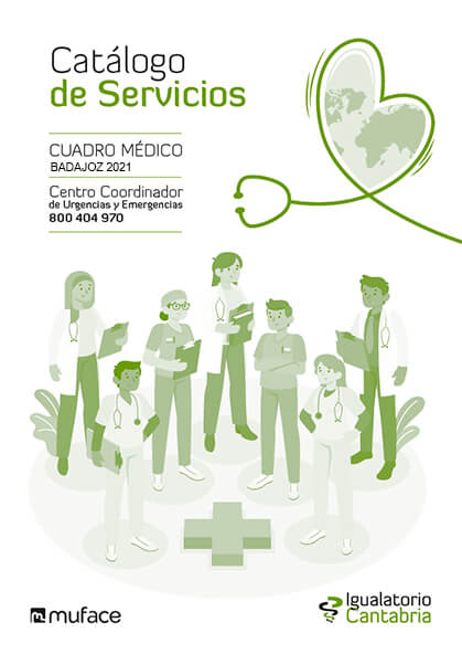Cuadro médico Igualatorio Cantabria MUFACE Badajoz 2021