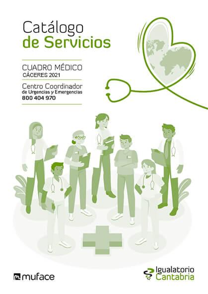 Cuadro médico Igualatorio Cantabria MUFACE Cáceres 2021