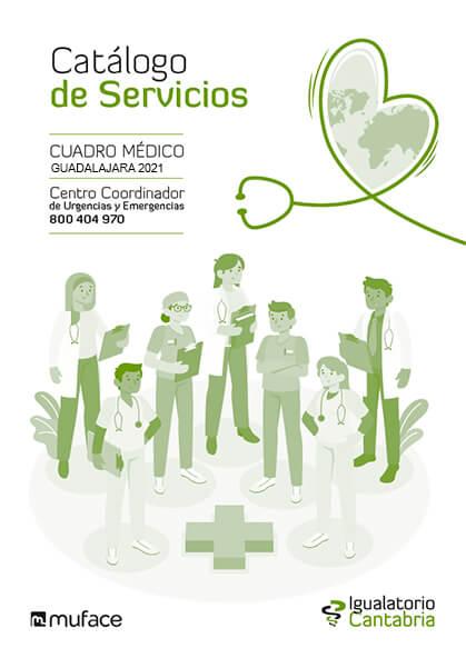Cuadro médico Igualatorio Cantabria MUFACE Guadalajara 2021