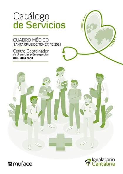 Cuadro médico Igualatorio Cantabria MUFACE Santa Cruz de Tenerife 2019