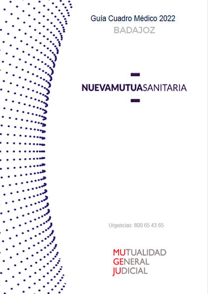 Cuadro médico Nueva Mutua Sanitaria (MUSA) MUGEJU Badajoz 2021