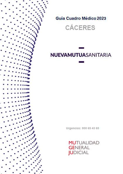 Cuadro médico Nueva Mutua Sanitaria (MUSA) MUGEJU Cáceres 2021