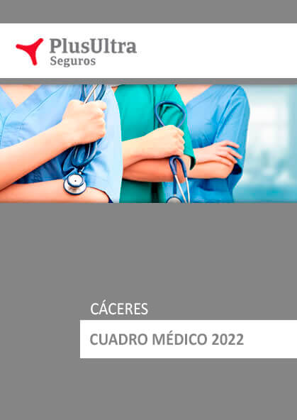 Cuadro médico Plus Ultra Cáceres 2021