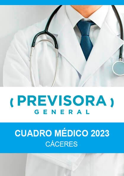 Cuadro médico Previsora General Cáceres 2019