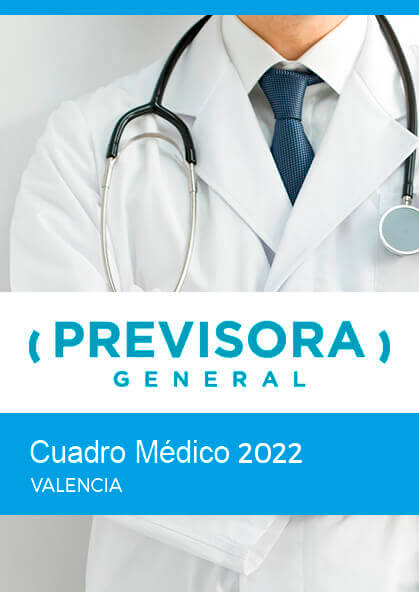 Cuadro médico Previsora General Valencia 2019