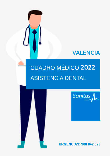 Cuadro médico Sanitas Dental Valencia 2021