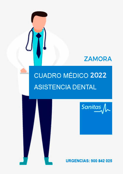 Cuadro médico Sanitas Dental Zamora 2021