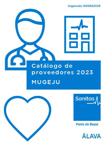 Cuadro médico Sanitas MUGEJU Álava 2021