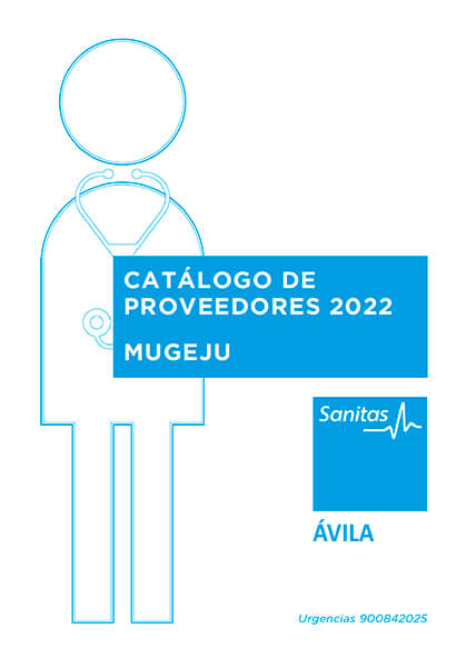 Cuadro médico Sanitas MUGEJU Ávila 2021
