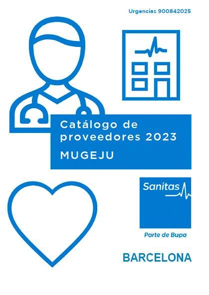 Cuadro médico Sanitas MUGEJU Barcelona 2019