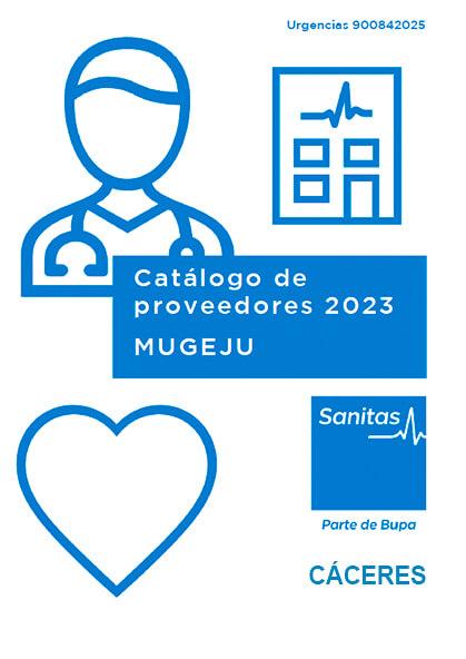Cuadro médico Sanitas MUGEJU Cáceres 2021