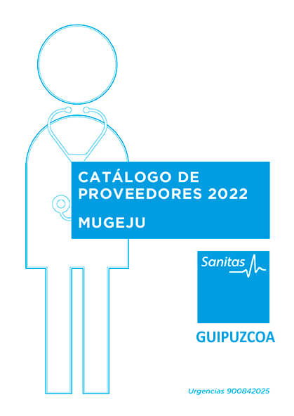 Cuadro médico Sanitas MUGEJU Guipúzcoa 2021