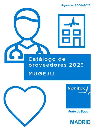 Cuadro médico Sanitas MUGEJU Madrid 2021