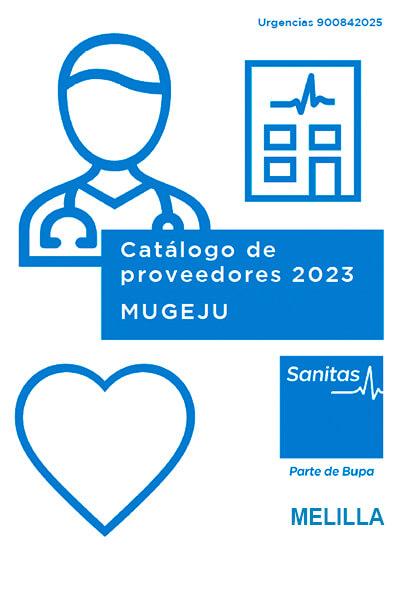 Cuadro médico Sanitas MUGEJU Melilla 2021