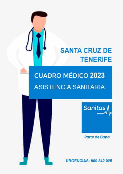 Cuadro médico Sanitas Santa Cruz de Tenerife 2021